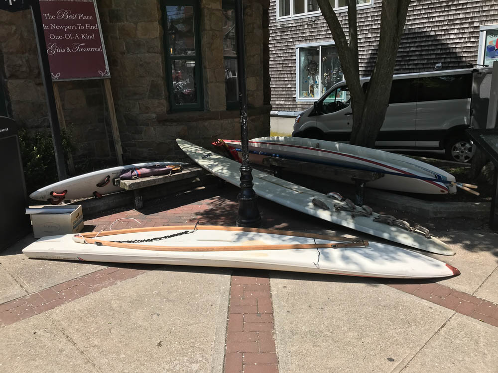 Boards being staged for move in
